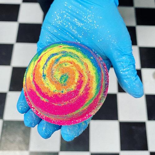 Rainbow Lollipop Bath Bomb