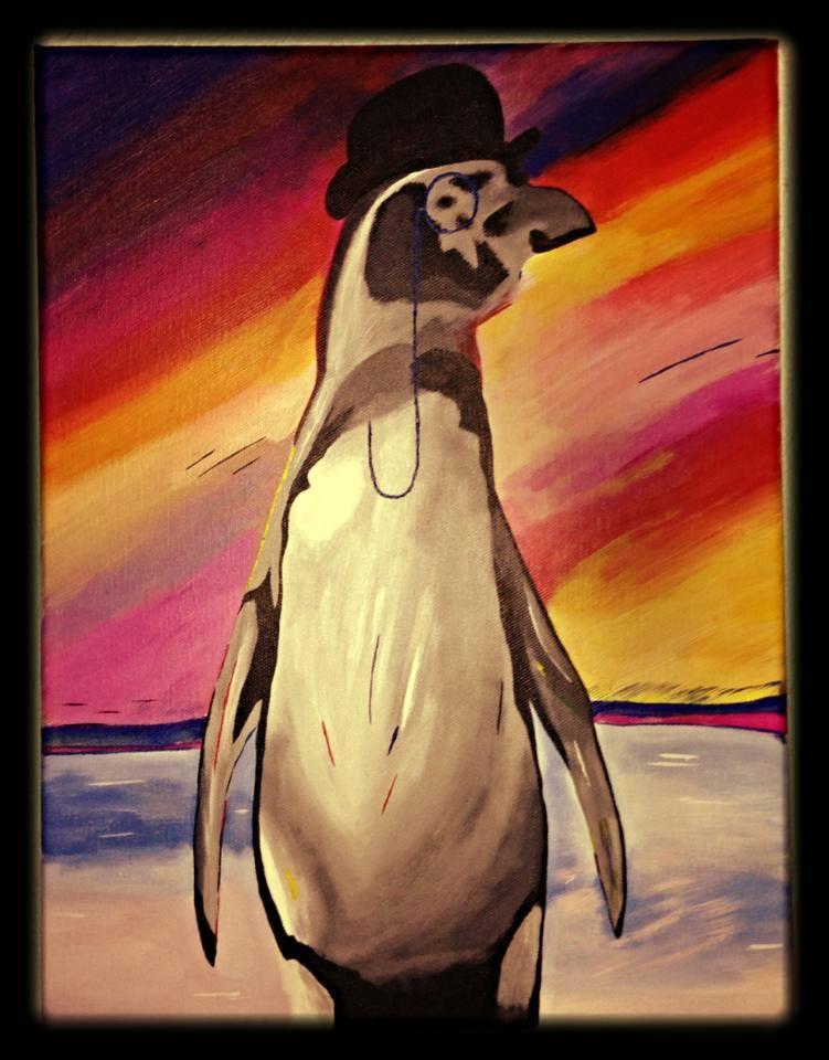 Namn: Herr pingvin på kalas (såld)