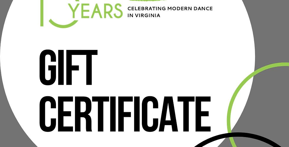 Three-Class Gift Certificate