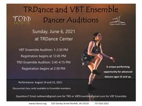 Audition Annoucement! TRD and VBT Summer Ensemble