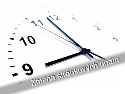 Zmena stránkových hodín pre občanov