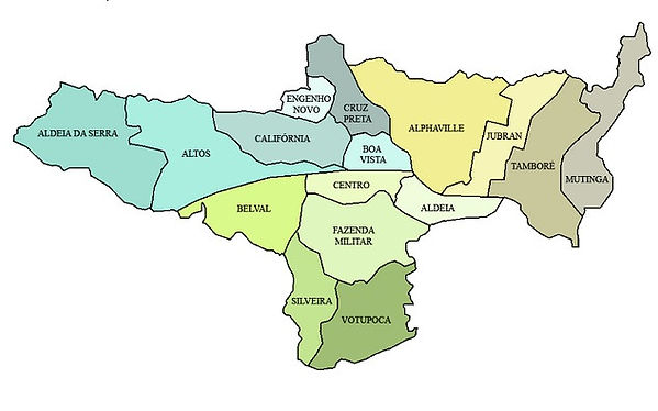 Mapa Bairros de Barueri Desentupidora