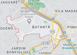 Mapa Desentupidora Esgoto Butantã