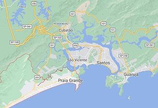 Mapa Desentupidora Santos
