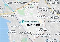 Mapa Limpeza de Fossas Campo Grande