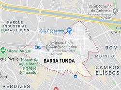 Mapa Desentupidora Barra Funda