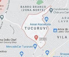 Mapa Desentupidora Tucuruvi