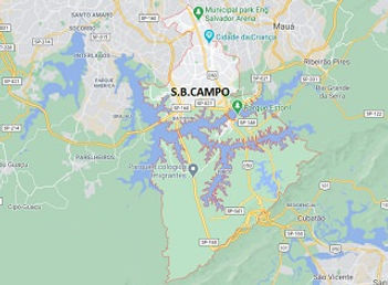 Mapa Desentupidora São Bernardo do Campo