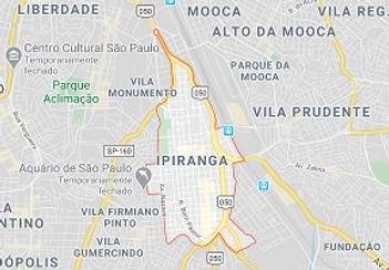 Mapa Desentupidora Ipiranga