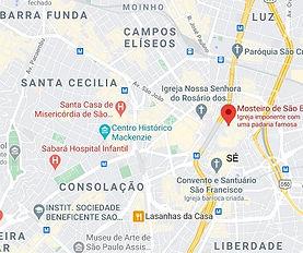 Mapa do Centro de São Paulo Desentupidoras