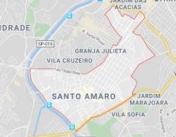 Mapa Limpeza de Fossas Santo Amaro