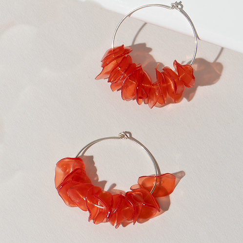 Alice Coral Hoops