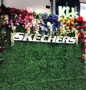Sketchers custom flower wall