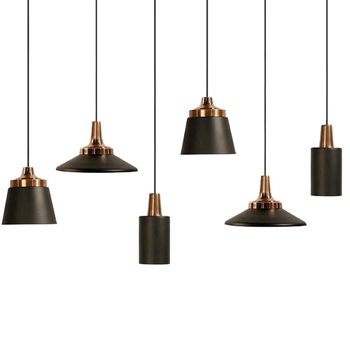 Miller 25cm Black Rosegold Pendant Light
