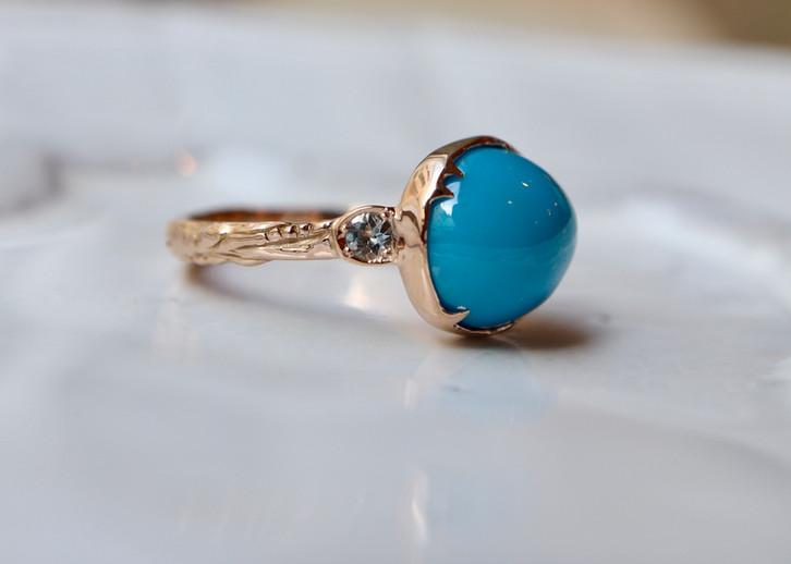 おばあちゃまから譲り受けたトルコ石のリング