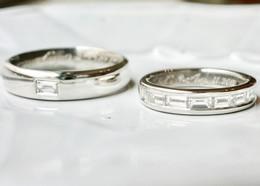 オーダーメイドで叶える バゲットカットの結婚指輪