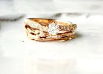 ドライフラワーが大好きな花嫁さんの結婚指輪