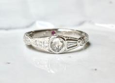 アンティークジュエリー が大好き!ローズカットダイアを使った結婚指輪