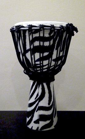 African Djembe Zebra Design