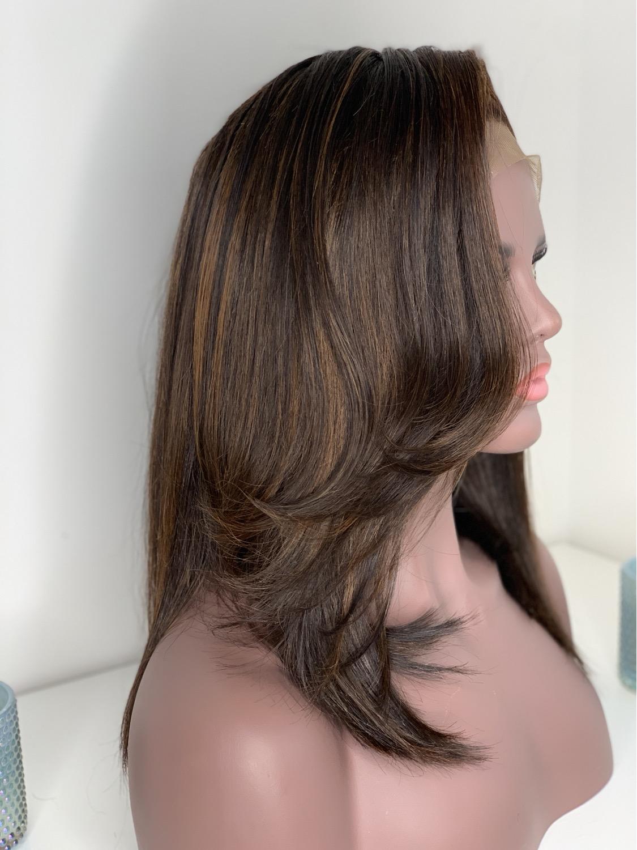 Thumbnail: Feather Mahogany layered bob wig