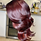 Thumbnail: Feather Deep Burgundy layered wig