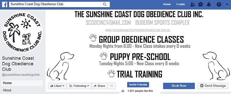 Sunshine Coast Dog Obedience Club Inc Facebook Page