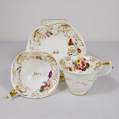 Rockingham porcelain trio