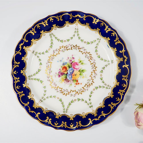 Almost antique Royal Worcester hand-painted dessert plate, dated 1922