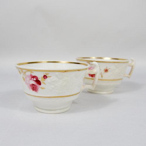 Grainger Worcester embossed cups