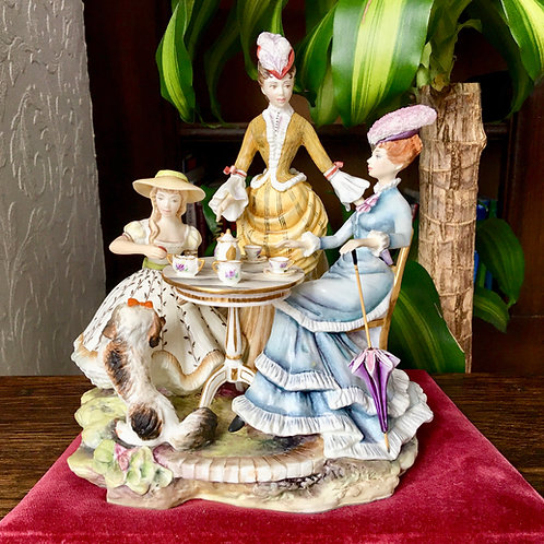 Royal Worcester Figurine The Tea Party Limited Edition of 250, c1960
