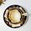 Thumbnail: H&R Daniel true trio (teacup, coffee cup, saucer) Bell shaped, c1825-1830 #5