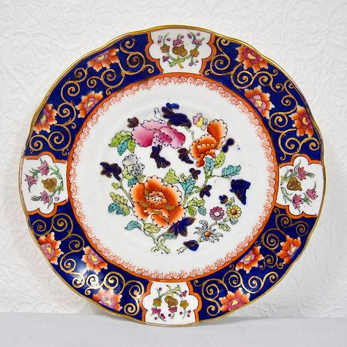 Rare Mason's Ironstone dessert plate with pseudo Chinese mark, dating 1830-1840