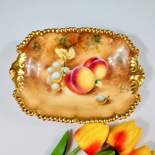 Royal Worcester hand-painted fruits