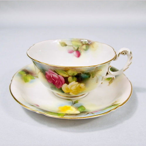 Royal Worcester Hand Painted Hadley Roses