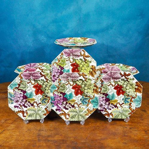 Copeland  Creamware Octagonal dessert service, pattern 2/827, c1850-1867