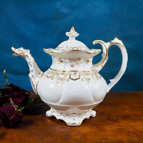 Coalport Rococo duck spout teapot Serena Antiques