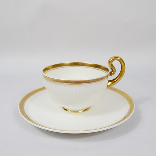 Swansea 'Paris fluted moulding' coffee cup and saucer