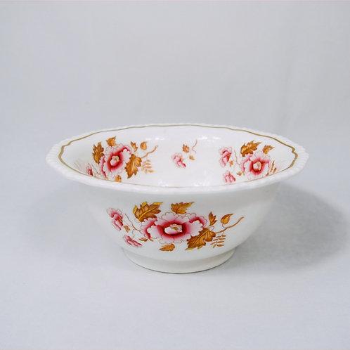 H&R Daniel hand painted Oriental flowers slop bowl, dating c1825-1830