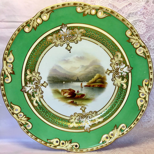 Decorative pierced cabinet plate possibly Ridgway