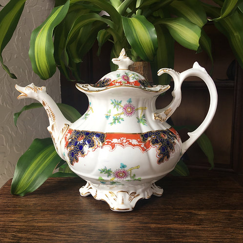 Coalport Neo Rococo, Duck Spout Teapot, c1840