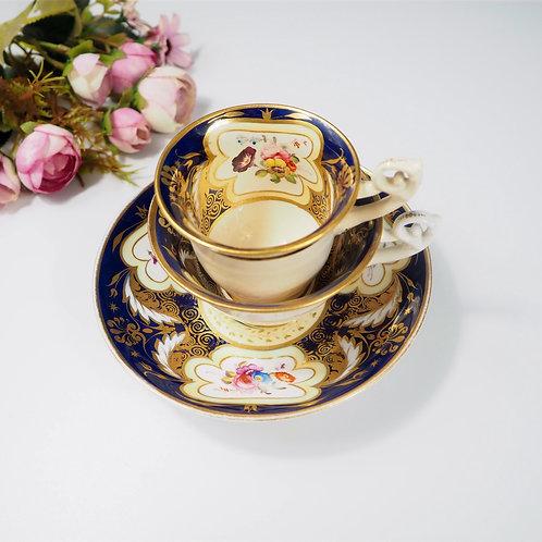 H&R Daniel true trio (teacup, coffee cup, saucer) Bell shaped, c1825-1830 #5