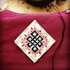 Tibetan Knot - hand embroidery