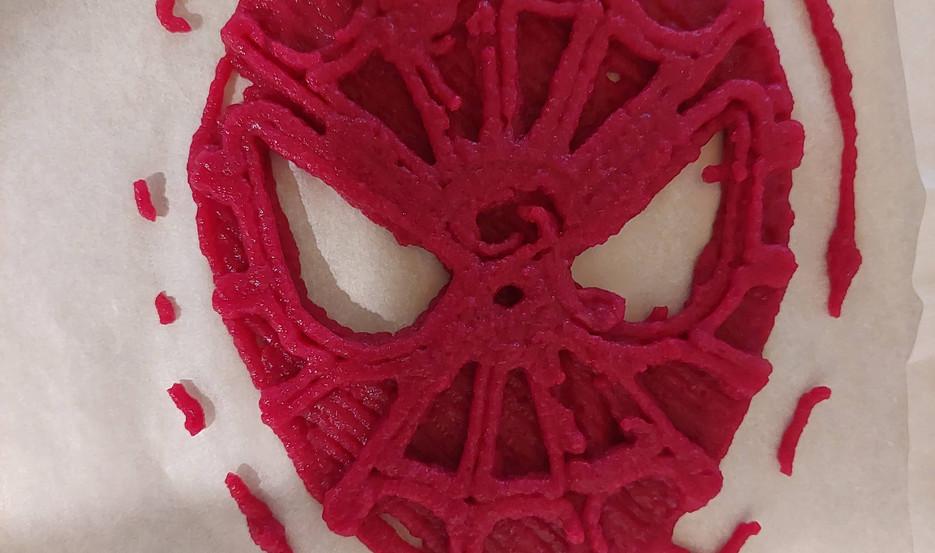spiderman mask spaced webbing