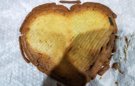 heart after baking