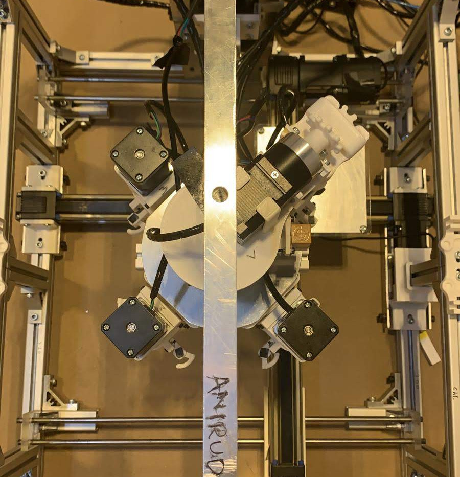 Top view of the food 3D printer