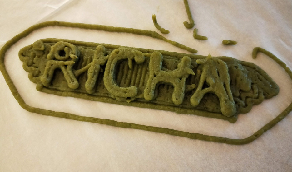Richa name made with spinach