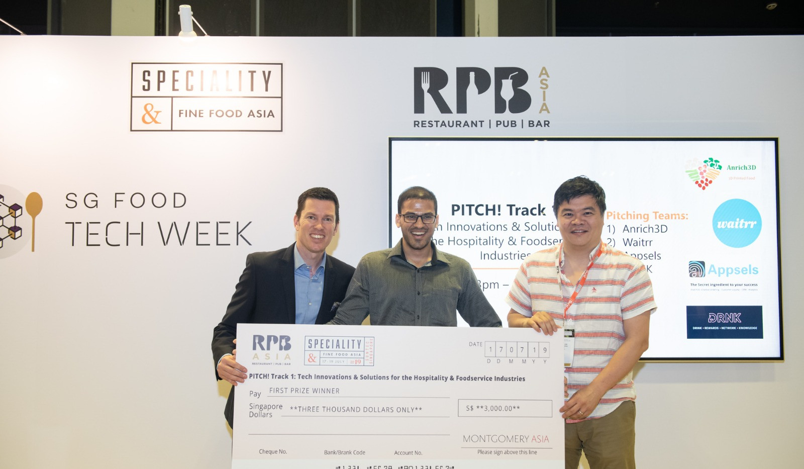 Winning the pitch competition! (17th July)