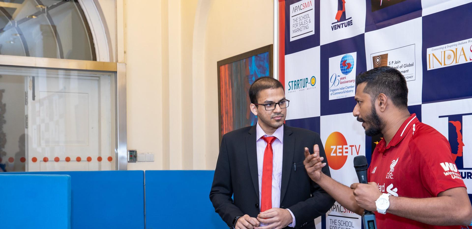 Prep for Zee TV telecast recording