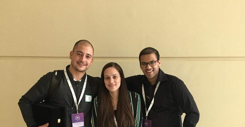 With Rabiya the organizer (Center)