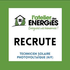 L'ATELIER DES ENERGIES RECRUTE - Technic